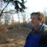 Budování Toušeňské zahrady - ...ale Jarda je šťastný.